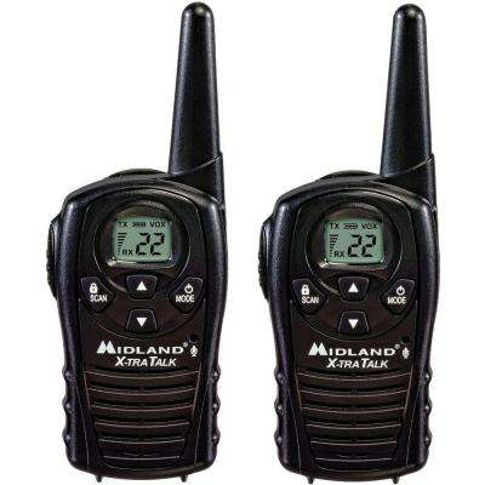 18-Mile 22 Channel 2-Way Radios - Black (2-Pack)