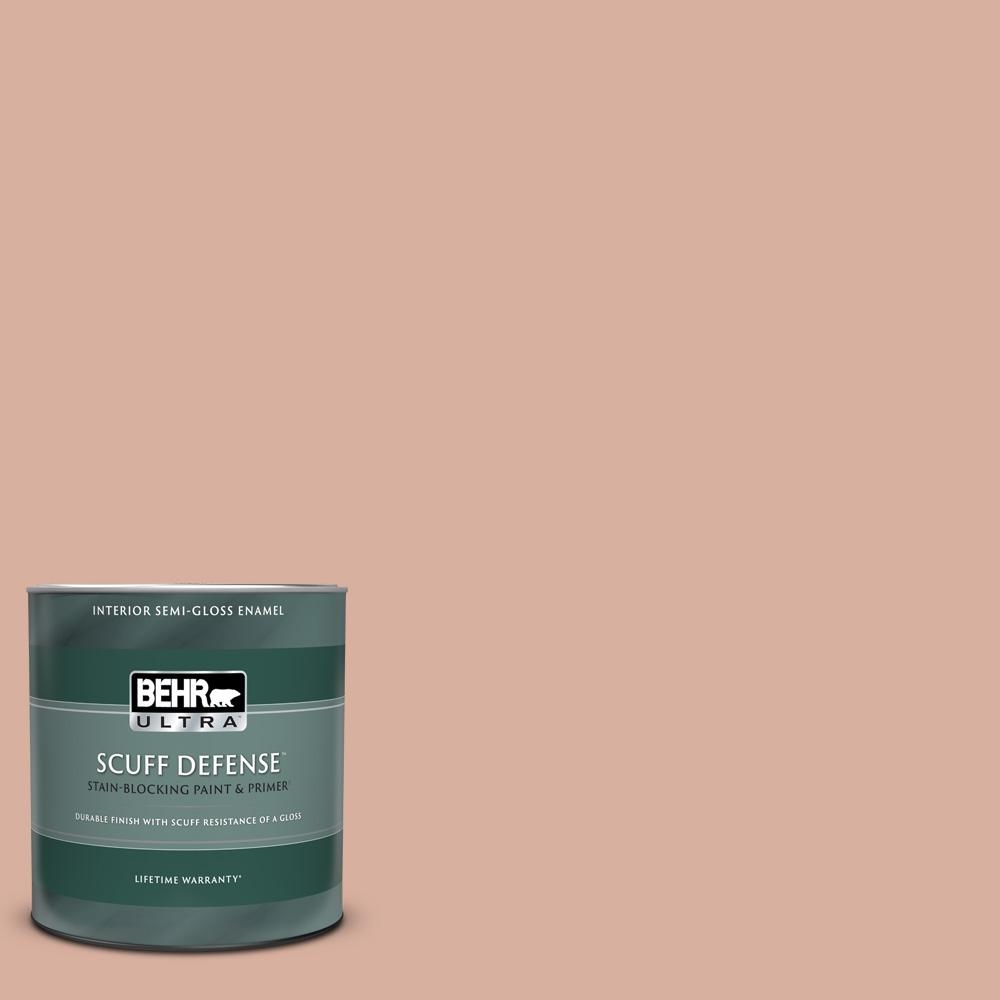 Behr Ultra 1 Qt S180 3 Flowerpot Extra Durable Semi Gloss Enamel Interior Paint Primer 375004 The Home Depot