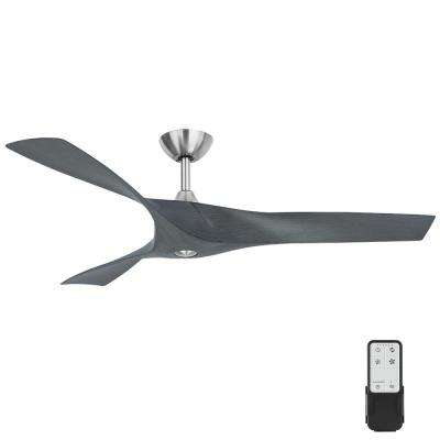 Wesley 52 in. Indoor/Outdoor Greywood DC Motor Ceiling Fan with Remote Control