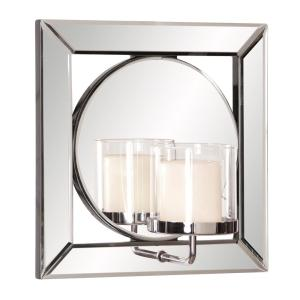 Lula Square Mirror with Candle Holder by