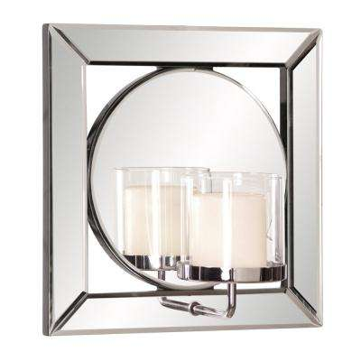 Lula Square Mirror with Candle Holder
