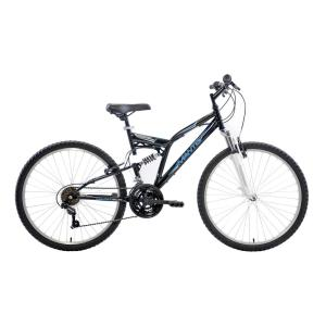 Mantis Ghost Full Suspension Mountain Bike, 26 inch Wheels, 18 inch Frame, Men's Bike in Black by Mantis