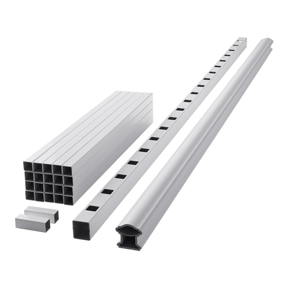 Fiberon ArmorGuard Classic 94 in  White Composite Rail Kit
