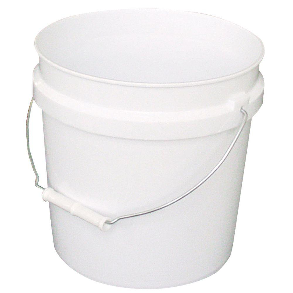 Leaktite 2 Gal Bucket 2gl White Pail The Home Depot