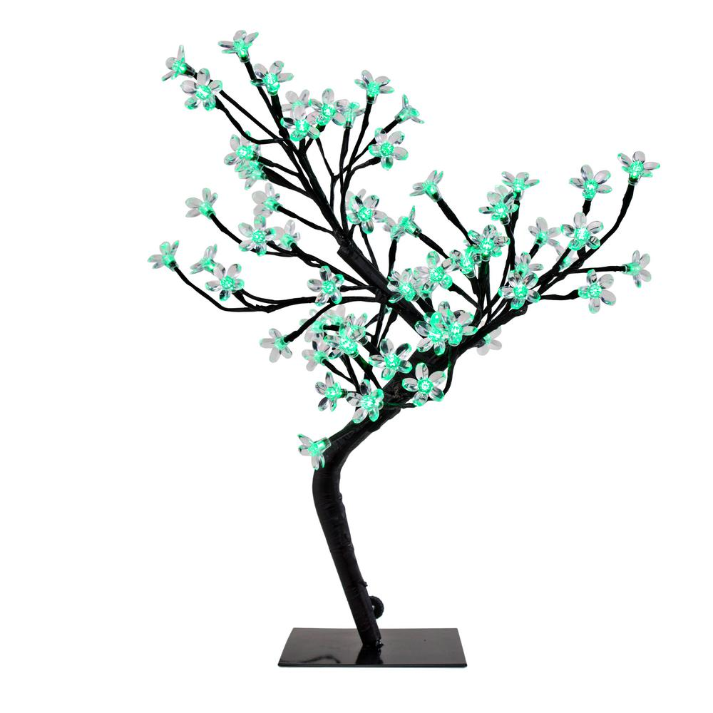 Green Cherry Blossom Tree Accent Lamp