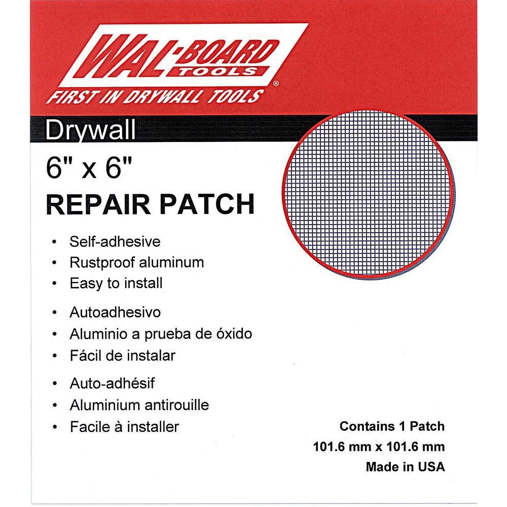 Wal-Board Tools 6 inch x 6 inch Drywall Repair Self Adhesive Wall Patch by Wal-Board Tools