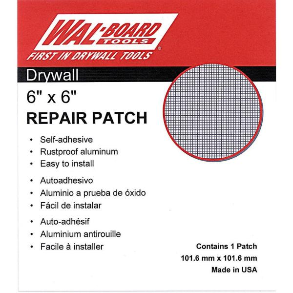6 in. x 6 in. Drywall Self Adhesive Wall Repair Patch