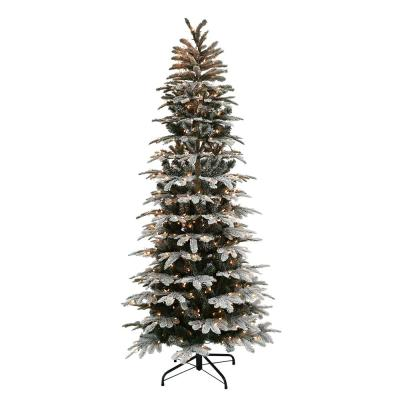 Puleo International 6 5 Ft Pre Lit Christmas Trees Artificial Christmas Trees The Home Depot