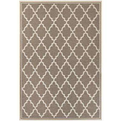 Monaco Ocean Port Taupe-Sand 8 ft. x 11 ft. Indoor/Outdoor Area Rug