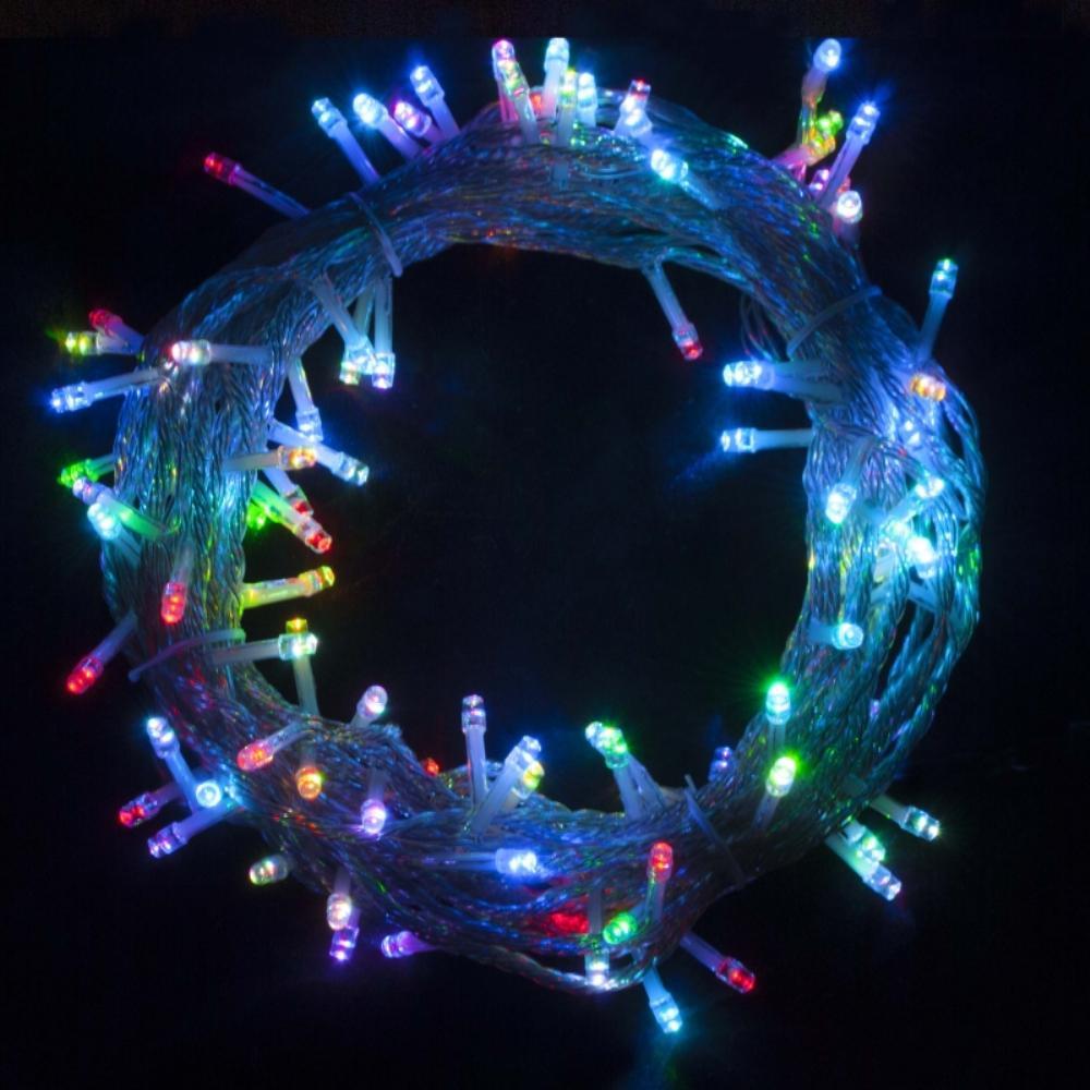 34 ft. 100-Light LED Multicolor Electric Powered String Lights