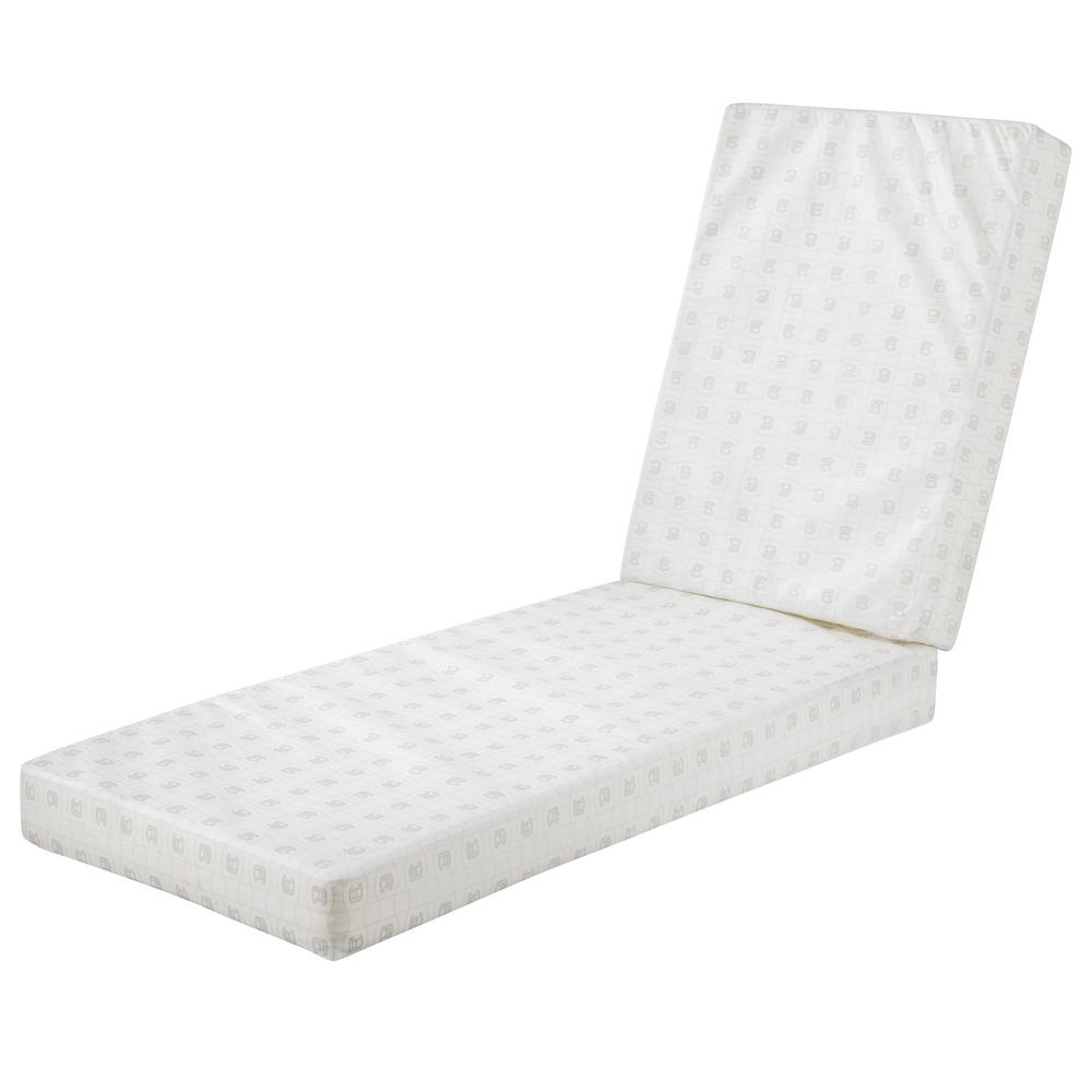 Classic Accessories 72 in  L x 21 in  W x 3 in  Thick Rectangle Chaise  Lounge Foam Cushion Insert