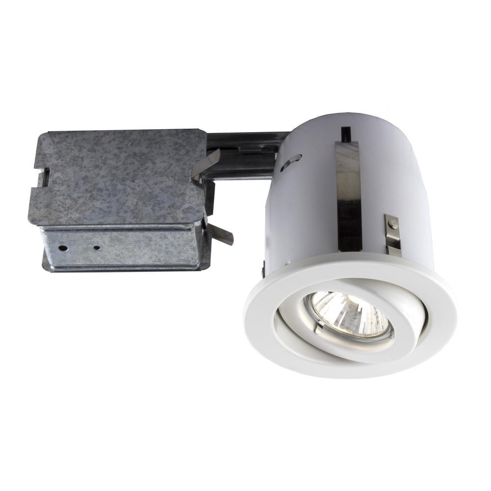 BAZZ 300 Series 4 in. White Recessed Halogen Lighting Kit
