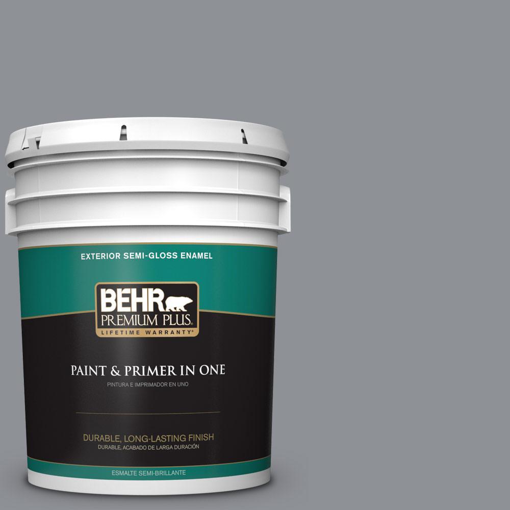 5 gal. #PPU18-04 Dark Pewter Semi-Gloss Enamel Exterior Paint