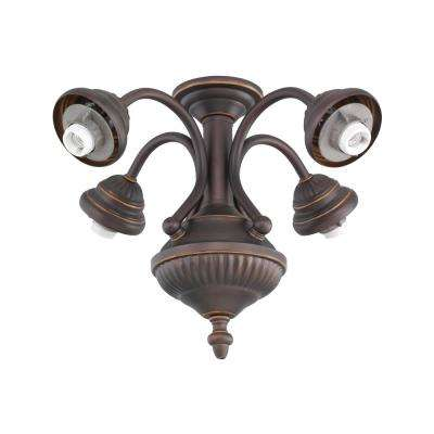 4-Light Roman Bronze Ceiling Fan Light Kit