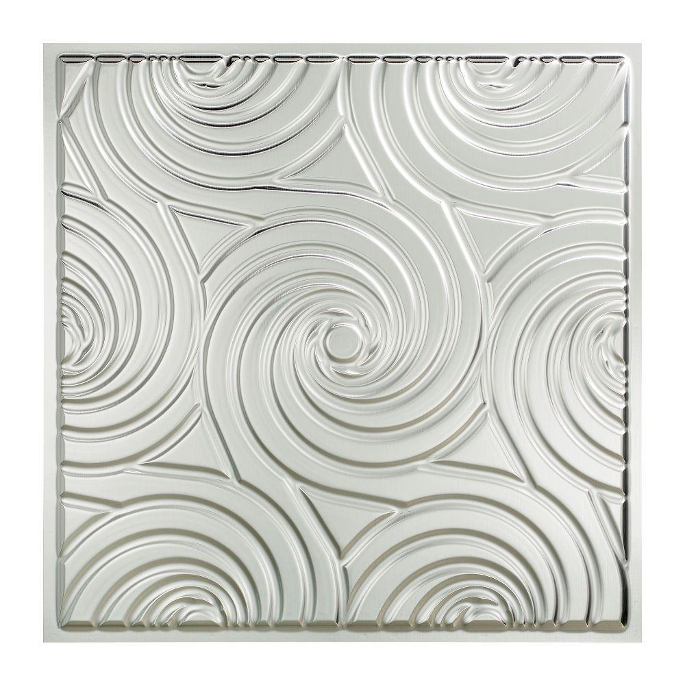 Fasade Typhoon - 2 ft. x 2 ft. Lay-in Ceiling Tile in Brushed Aluminum