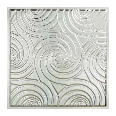 Typhoon 2 ft. x 2 ft. Vinyl Lay-In Ceiling Tile in Brushed Aluminum