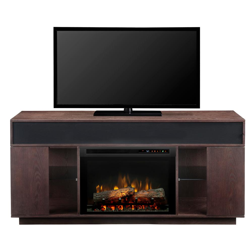 Audio Flex Lex 64 in. Freestanding Electric Fireplace TV Stand Media