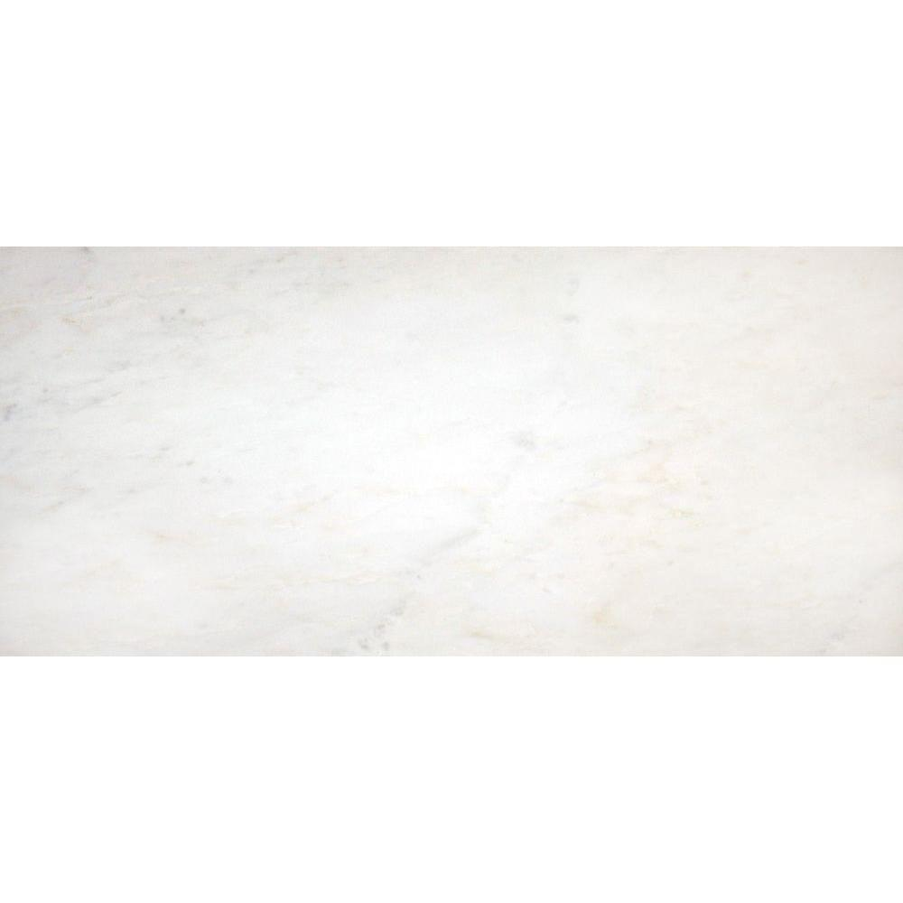 MS International Greecian White 8 in. x 12 in. Polished Marble Floor and Wall Tile (6.67 sq. ft./case)