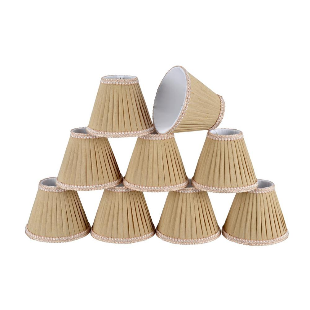 6 in. x 5 in. Creme Pleated Empire Lamp Shade (9-Pack)