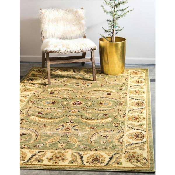 Unique Loom Voyage Hickory Green 7 0 X 10 0 Area Rug 3123719 The Home Depot
