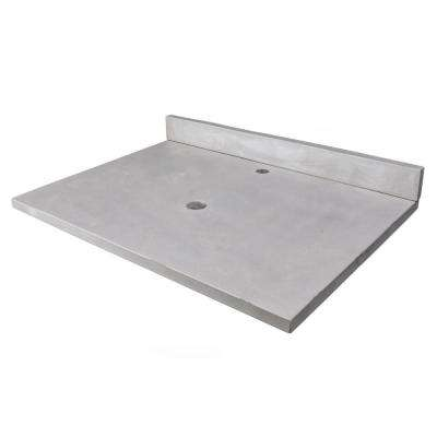 31 in. x 22 in. Concrete Counter Top with Backsplash in Light Gray