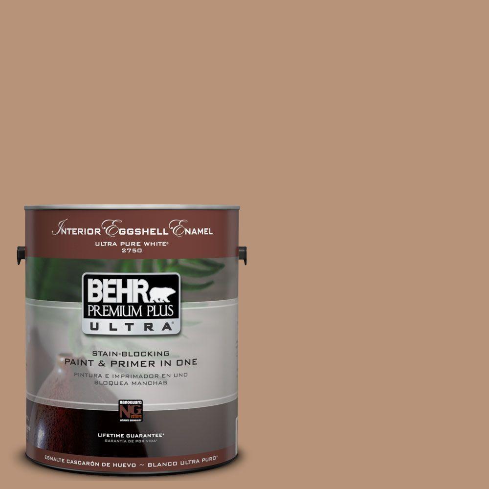 BEHR Premium Plus Ultra 1-Gal. #UL130-6 Spice Cake Interior Eggshell Enamel Paint