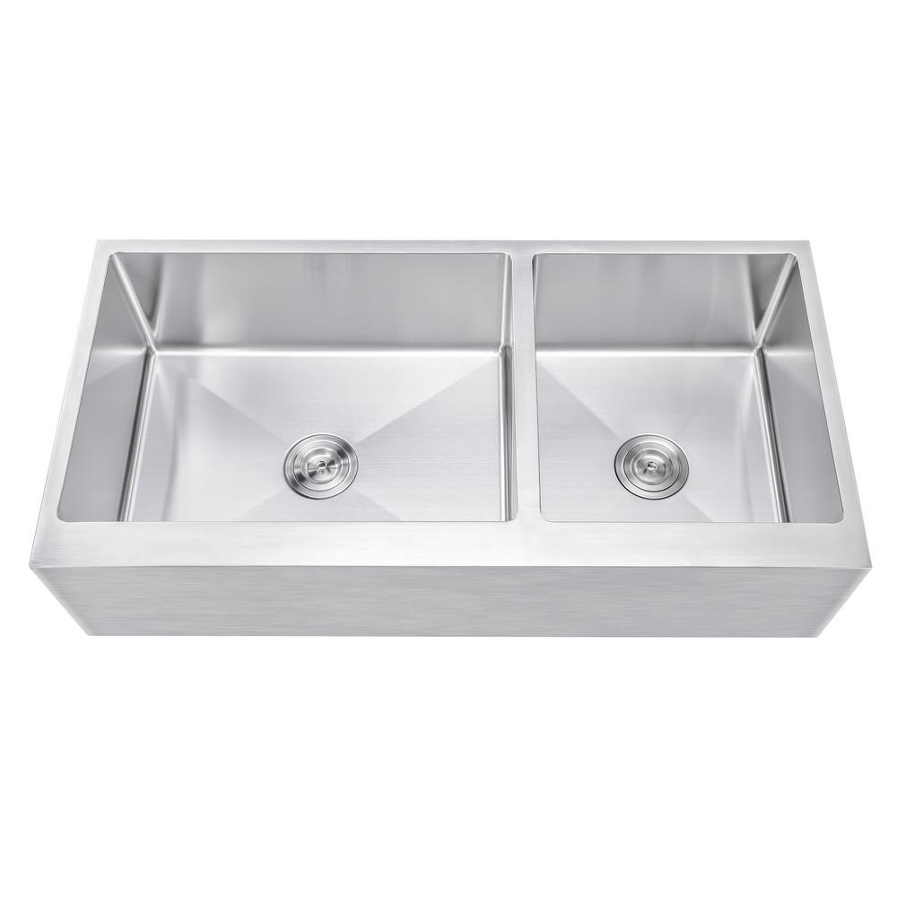 42 kitchen sink single compartment emoderndecor 42 in 21 10 16gauge stainless steel