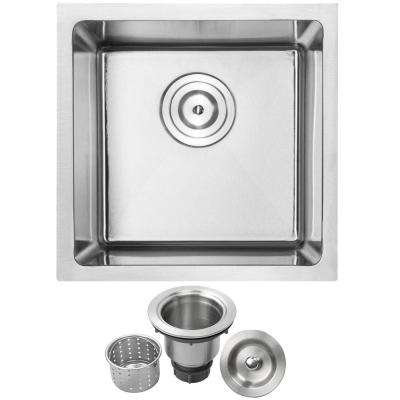 Arlo Undermount 18-Gauge Stainless Steel 16 in. Single Bowl Kitchen and Bar Sink with Basket Strainer