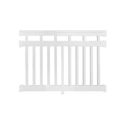 Hallandale 3.5 ft. H x  4 ft. W Vinyl White Railing Kit