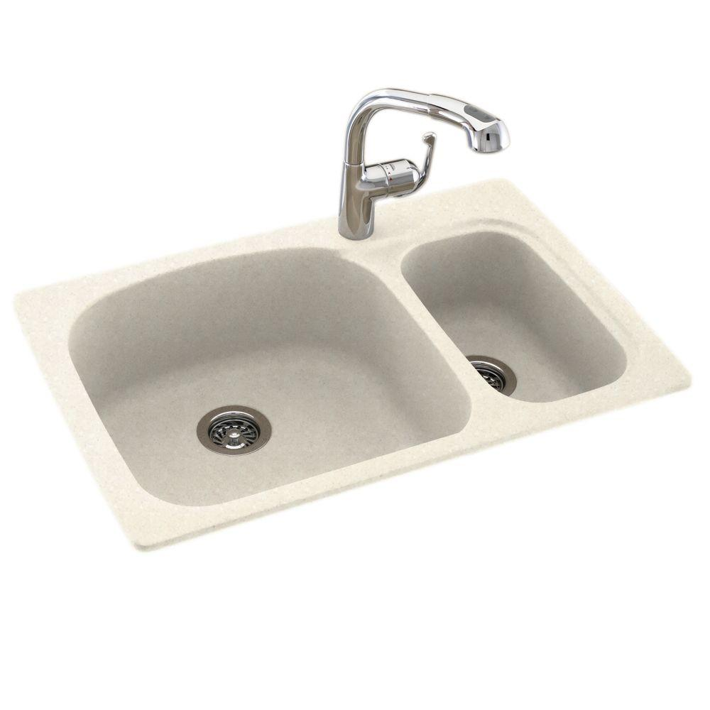 Swan Drop In Undermount Solid Surface 33 In 1 Hole 55 45