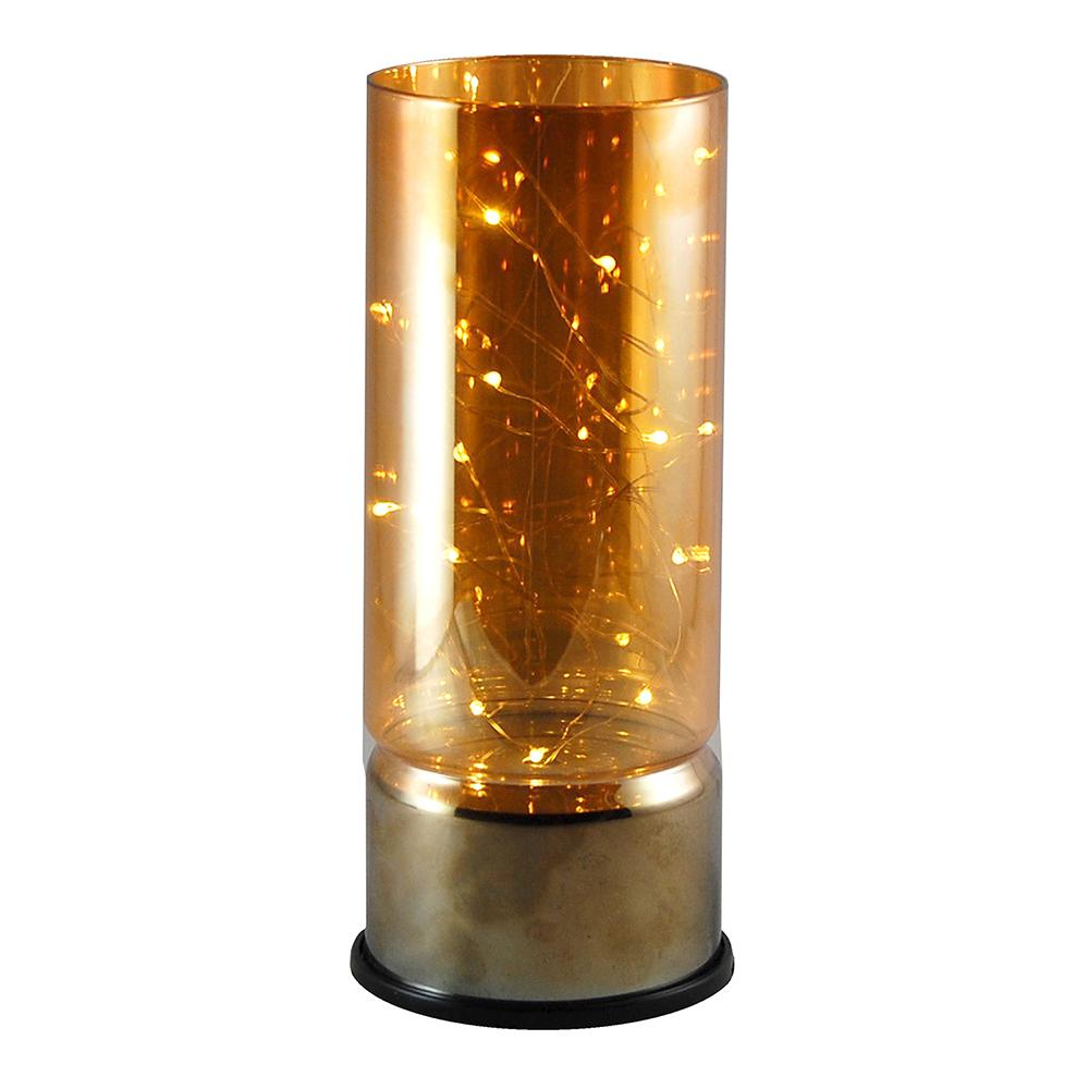 Target Outdoor String Lights Replacement Bulbs: Lumabase Amber Glass Lantern With Mini String Lights-95701