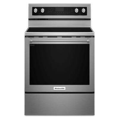 6.4 cu. ft. Electric Range with Self-Cleaning Convection Oven in Stainless Steel