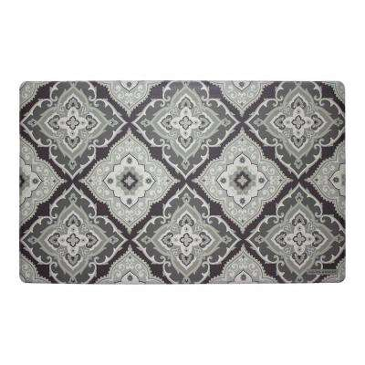 Allie Gray 20 in. x 32 in. Memory Foam Kitchen Mat