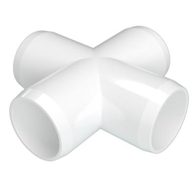 1 in. Furniture Grade PVC Cross in White (4-Pack)