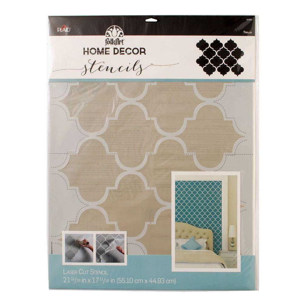 Nature Flowers Wall Stencils Wall Decor The Home Depot