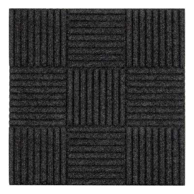 Self-Stick Mat Charcoal 18 in. x 18 in. Floor Mat Carpet Tiles (18 sq. ft.) (8-Pack)