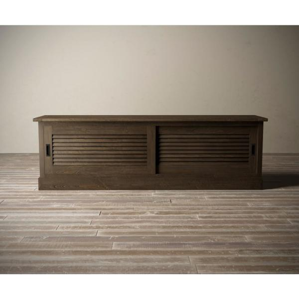 Callanhan 75 in. Salvaged Espresso Wood TV Stand Fits TVs Up to 75 in. with Built-In Storage