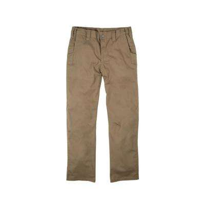 Men's 34 in. x 32 in. Putty Cotton, Polyester and Spandex Flex 180 Ripstop Pants