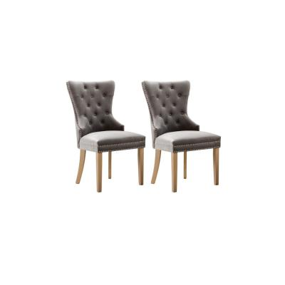 Troyes Light Grey Upholstered Wingback Chair