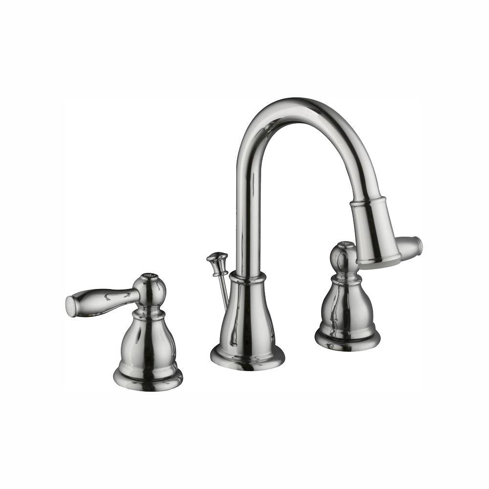Glacier Bay Mandouri 8 in. Widespread 2-Handle LED High-Arc Bathroom Faucet in Chrome