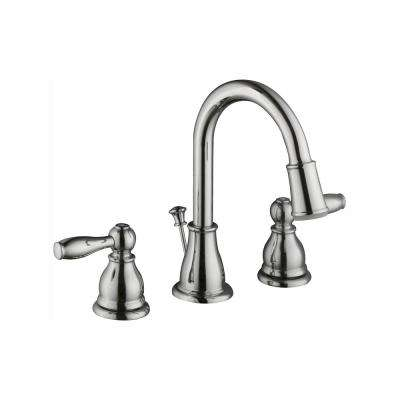 Mandouri 8 in. Widespread 2-Handle LED High-Arc Bathroom Faucet in Chrome