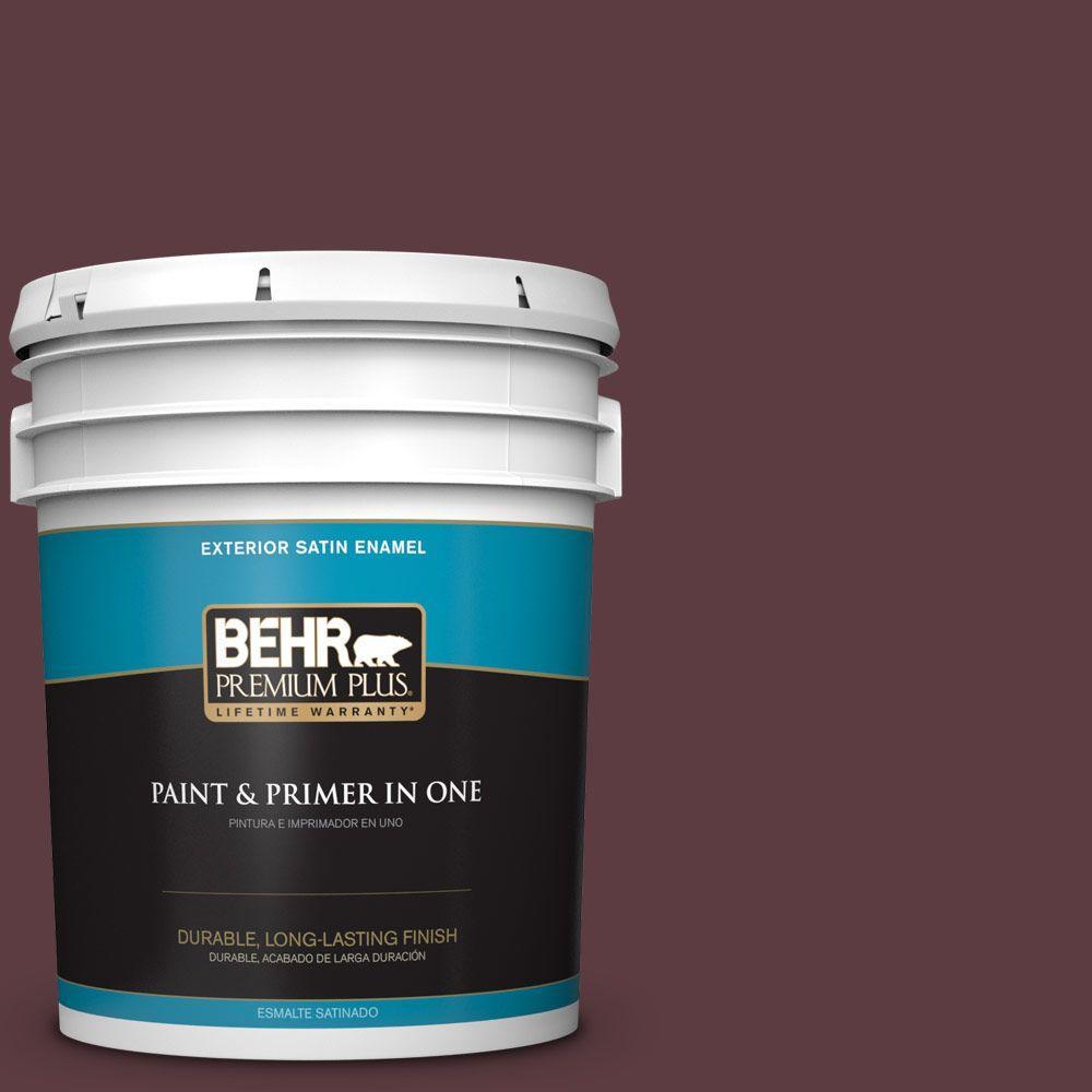 5-gal. #110F-7 Deep Garnet Satin Enamel Exterior Paint