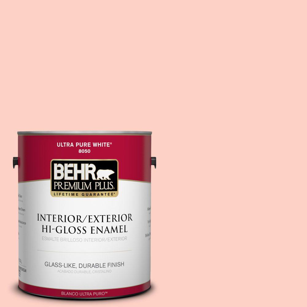 1-gal. #200A-2 Coral Cream Hi-Gloss Enamel Interior/Exterior Paint