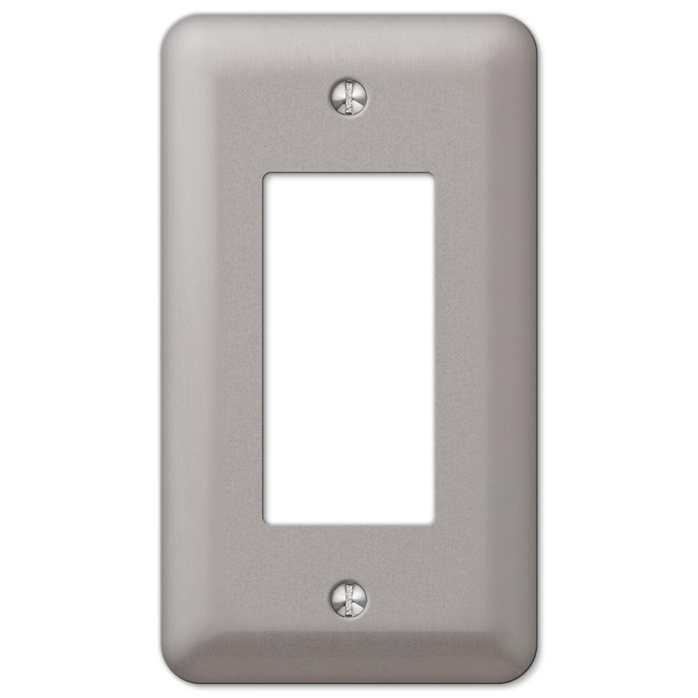 Pewter Switch Plates Wall The Home Depot 1 Style Choose On Off Rocker Declan Plate