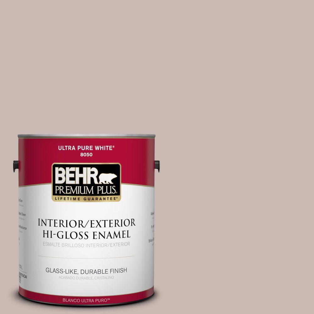 BEHR Premium Plus 1-gal. #N170-3 Gray Ashlar Hi-Gloss Enamel Interior/Exterior Paint