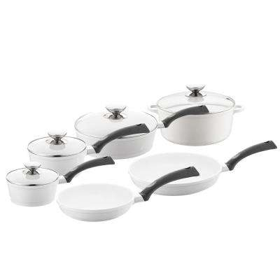 SignoCast 10-Piece Pearl Cookware Set with Lids