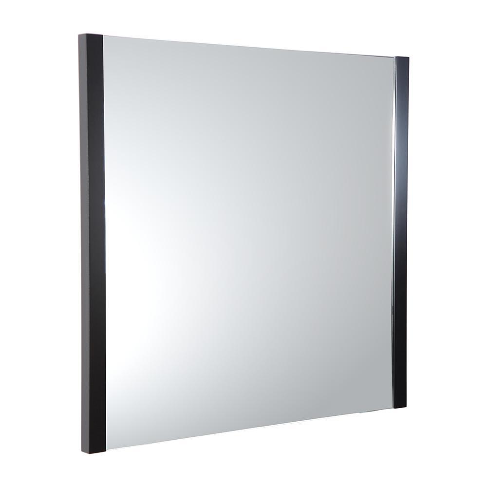 Torino 31.50 in. W x 31.50 in. H Side Framed Wall Mirror in Espresso