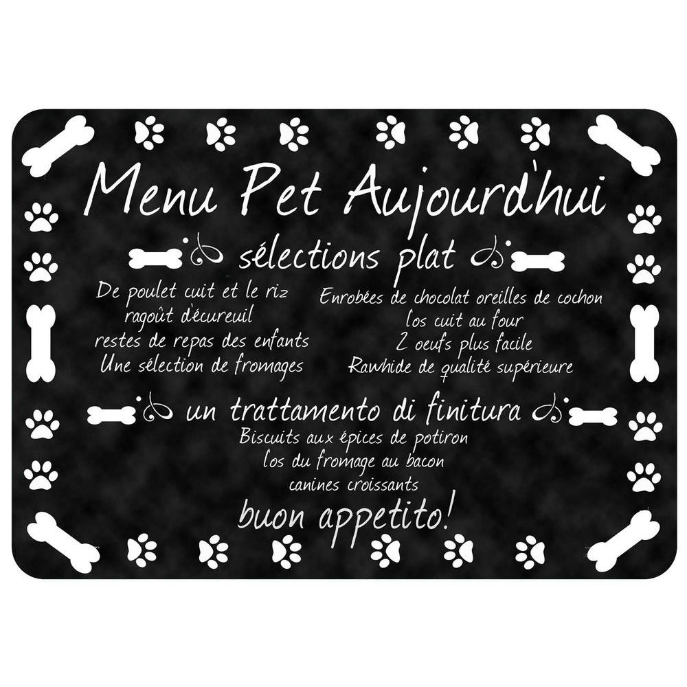 Comfort French Pet Menu 22 in. x 31 in. Pet Mat