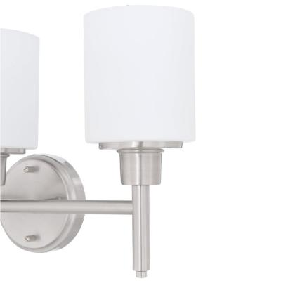 Aubrey 3-Light Satin Nickel Vanity Light