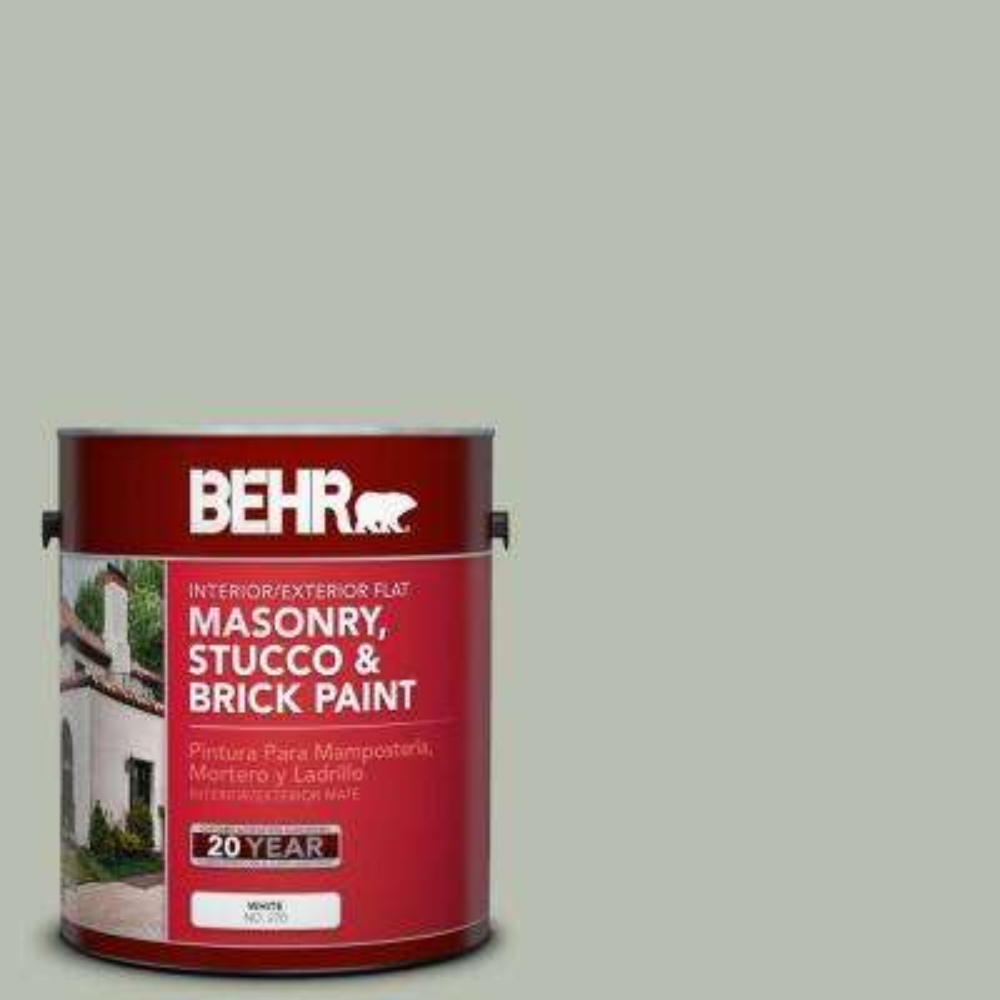 1-gal. #MS-50 Prairie Sage Flat Interior/Exterior Masonry, Stucco and Brick Paint